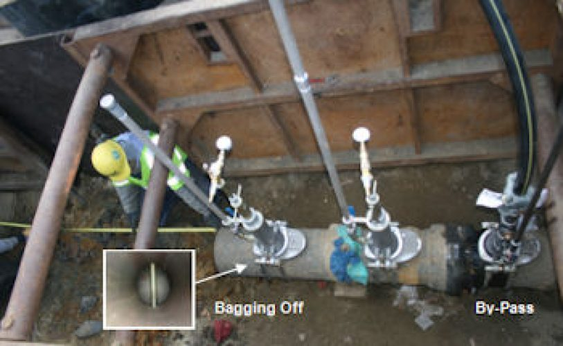 By-Pass Assembly and Bagging Off System for Gas Flow Stopping