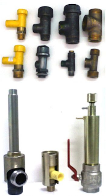 Tee Insertion and Completion Plug Removal tooling shown