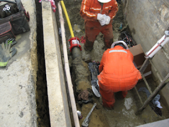 Foam Off at Entry Excavation