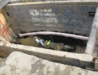 Completed Push at Exit Excavation