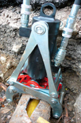 Cast Iron Host Safely Removed with Pipe Cracker