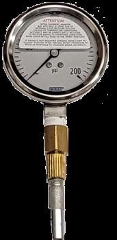 Liquid Filled Gauge with Pete's Plug Probe