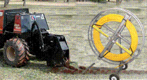 Vibra-Plow with Cart